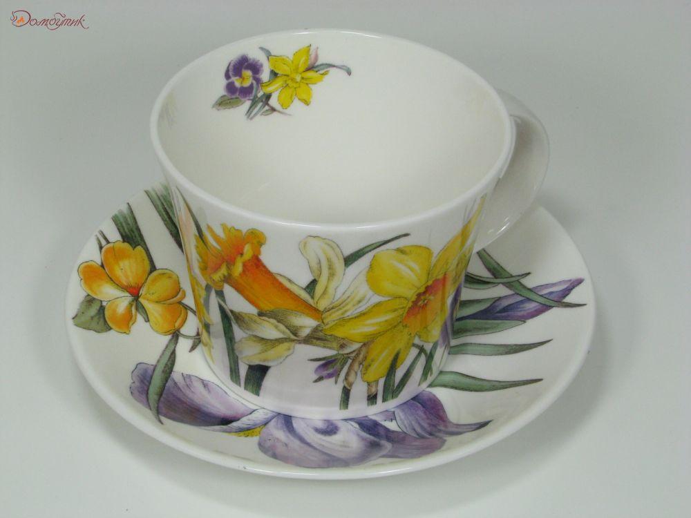 Чайная пара букет цветов 500мл 0022