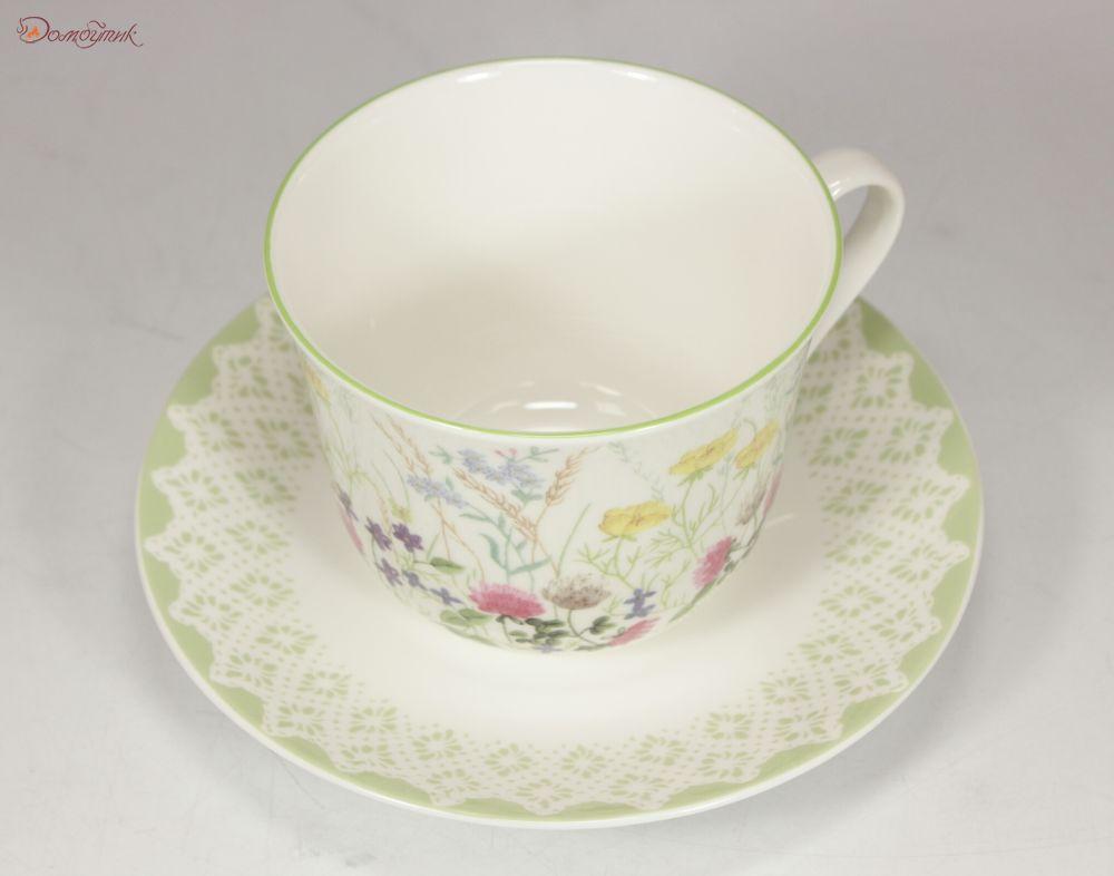 Заказ, чайная пара букет цветов 500мл 0022