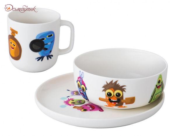 Детский набор посуды 3 пр. (белый)
