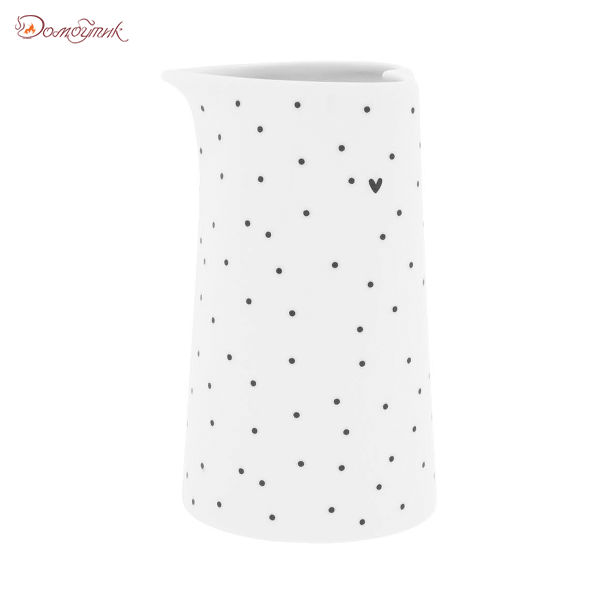 Bastion Collections Молочник White Dots Stripes Нeart малый